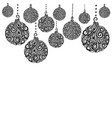 beautiful monochrome black and white christmas vector image vector image