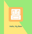 beer lover day around world greeting card vector image