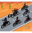 Bikers Riding on the Highway Design vector image vector image