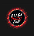 black friday sale background with glowing red vector image