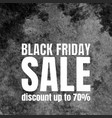 black friday sale poster with watercolor texture vector image