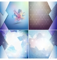 Blue geometric backgrounds set abstract triangle vector image vector image