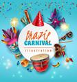 brazil carnaval frame vector image vector image