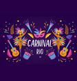 brazilian carnival music festival masquerade vector image