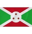 Burundi waving flag vector image vector image