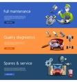 Car Repair Cartoon Banners Set vector image