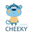 card cheeky monkey vector image vector image
