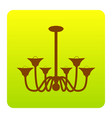 chandelier simple sign brown icon at vector image vector image