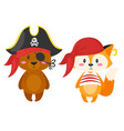 characters in pirate costumes vector image vector image