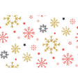 christmas background with snowflakes abstract vector image vector image