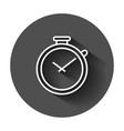clock timer icon in flat style time alarm with vector image vector image