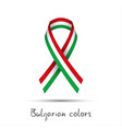 colored ribbon with the bulgarian tricolor vector image