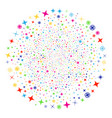 confetti stars festival spheric cluster vector image vector image