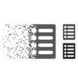 disintegrating pixel halftone list icon vector image vector image