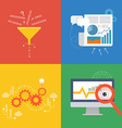 Element of data concept icon in flat design vector image vector image