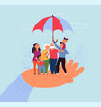 family life insurance financial support love vector image