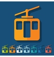 Flat design funicular vector image vector image