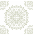 floral round element in Eastern style vector image vector image