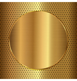 gold circle vector image vector image