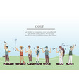 golf players in the course vector image