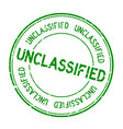 grunge green unclassified word round rubber seal vector image vector image