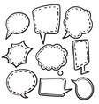 hand draw doodle bubble speech icon vector image vector image