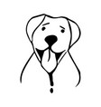 happy dog in lineart style vector image vector image