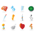 Icons for medicine vector image vector image