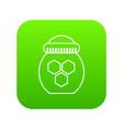 jar of honey icon green vector image vector image
