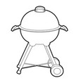 kettle barbecue icon outline vector image vector image