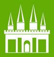 kingdom palace icon green vector image vector image