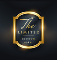 limited edition premium golden label design vector image vector image