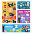 photographer jeweler manager and tailor designer vector image