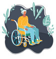 portrait a senior woman in wheelchair vector image vector image
