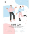 poster dance club concept vector image