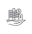 property valuation line icon concept property vector image