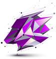 Purple contemporary technical asymmetric vector image vector image