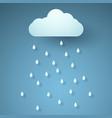 rain paper art style vector image