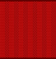 rib knit red pattern vector image vector image
