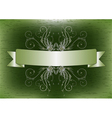 Ribbon with flower vector image vector image