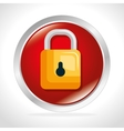 security system padlock concept button vector image