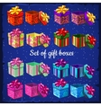 set boxes for gifts vector image vector image