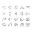 set like feedback line icons friendship love vector image vector image