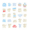 set of 25 merry christmas and happy new year hand vector image vector image