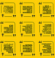 Set of motivational quotes about conviction vector image vector image
