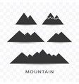 set of mountain icon simple flat style vector image vector image