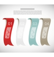 Set of numbered ribbons vector image vector image