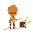 shaggy musician man vector image vector image