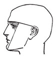 side profile of a male face vintage engraving vector image vector image