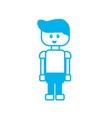 silhouette man character to video game technology vector image vector image